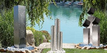 edelstahlbrunnen gartenbrunnen aus edelstahl f r ein modernes gartenambiente revisage. Black Bedroom Furniture Sets. Home Design Ideas