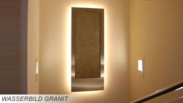 Wasserbild Wandbrunnen Granit