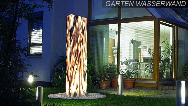 edelstahl-gartenbrunnen und granitbrunnen online-shop - revisage - Wasserwand Selber Bauen Garten