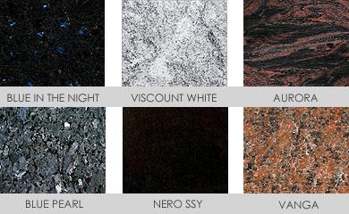 Granit Kugelbrunnen Materialien