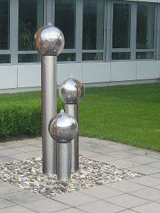 edelstahl gartenbrunnen stuttgart 3er set 170s15 - revisage, Garten und erstellen
