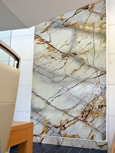 Naturstein Wasserwand Granit Roma Imperiale