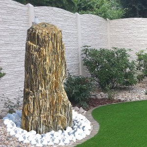 quellstein brunnen set woodstone 80 naturstein. Black Bedroom Furniture Sets. Home Design Ideas