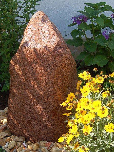 Gartenbrunnen granit quellstein set 70 mit optionaler beleuchtung revisage - Gartenbrunnen set stein ...