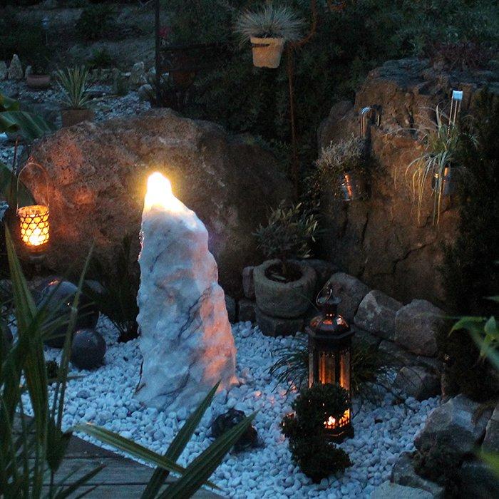 Quellstein brunnen set purple wave marmor 80 revisage - Gartenbrunnen set stein ...