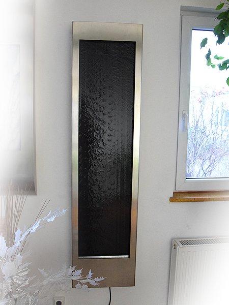 Wasserbild Black Black Wave Wandbrunnen Aus Schiefer Kombiniert Mit