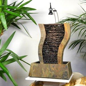 Naturstein Wasserwand aus Schief...