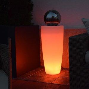 Formschöner LED Kugelbrunnen Höh...